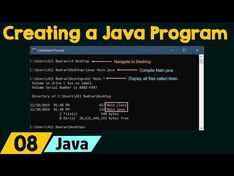 Creating, Compiling, & Executing a Java Program thumbnail