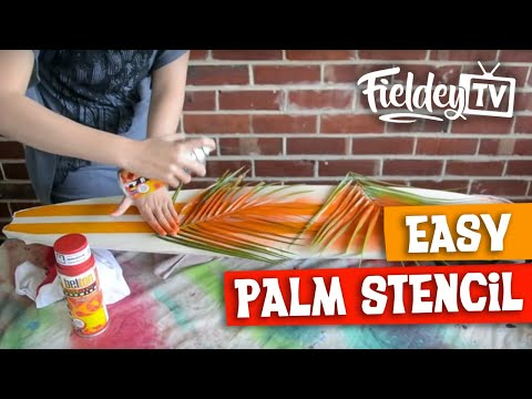 How to do an easy retro-style palm stencil for your skateboard deck