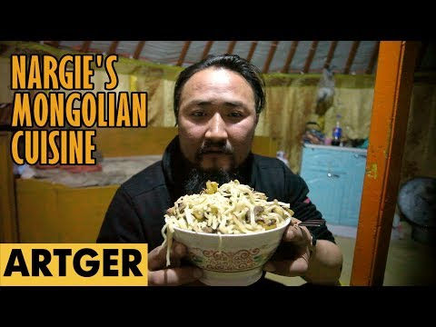 Nargie's Mongolian Cuisine: TSUIVAN (Most Popular Mongolian Dish) S1/E18