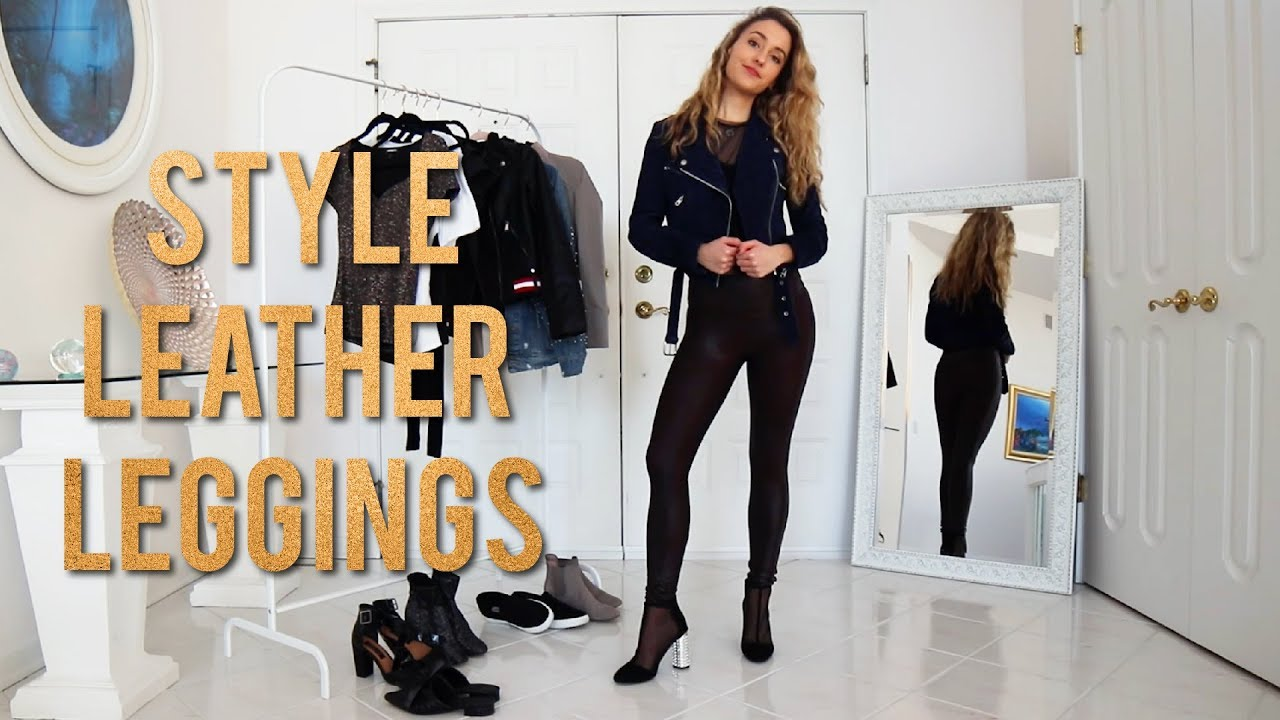 HOW TO STYLE LEATHER LEGGINGS | SPANX OUTFIT IDEAS 6
