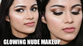 कैसे करें न्यूड मेकअप Glowing NUDE Makeup For Beginners Tutorial In HINDI