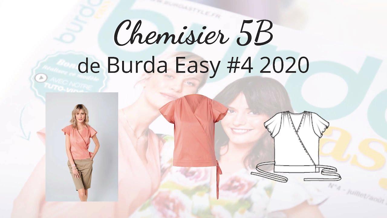 Chemisier 5B - burda easy n°4 juillet/août 2020