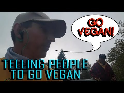 """TELLING PEOPLE TO """"GO VEGAN!"""" - PATREON/LIVESTREAM INCENTIVE - SPONSORED BY LUCRETIA C"""