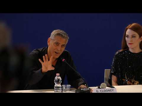 "George Clooney: ""There are Dark Clouds over America"" / Venice Film Festival Suburbicon premiere"