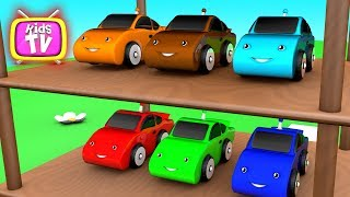 Learn colors with little cars and toys  - 3D Cartoons for children Video for kids