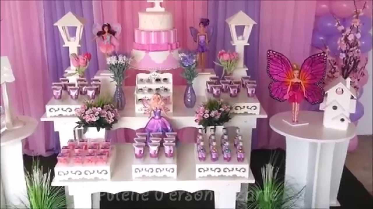 Decora??o de festa infantil Barbie Butterfly - Proven?al ...