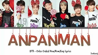 BTS (방탄소년단) - ANPANMAN [Color Coded Han/Rom/Eng] Lyrics
