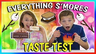 EVERYTHING S'MORES TASTE CHALLENGE | We Are The Davises