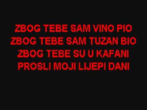 Serif konjevic-zbog tebe sam vino pio ~ DOMAĆE KARAOKE ~