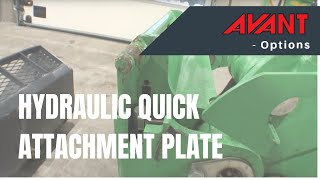 Hydraulic quick attachment plate, Avant 500-700 Series Option Thumbnail