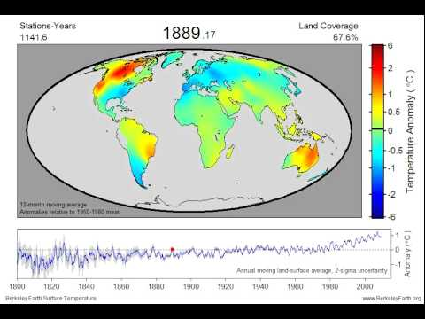 Land Temperature Anomaly Video
