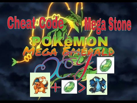 Cheat Code MEGA STONE, Pokemon Mega Emerald XY GBA