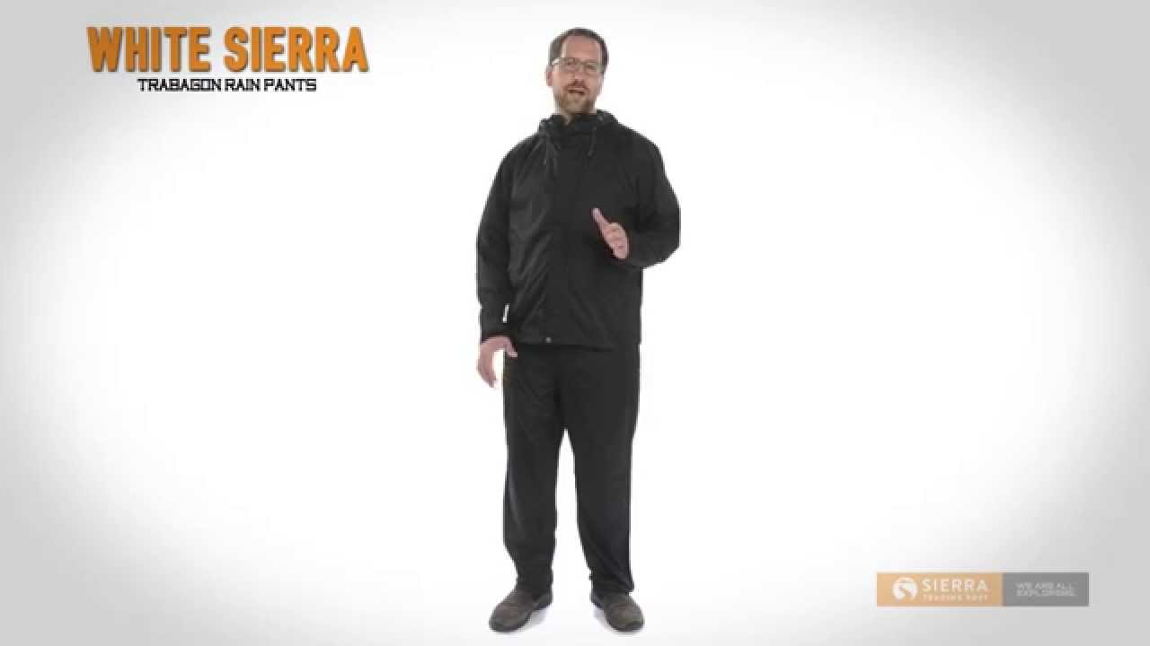 6d136ff63a White Sierra Trabagon Rain Pants - Waterproof (For Men) - YouTube