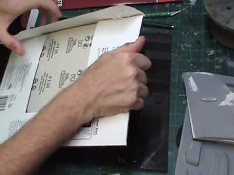 Sanger B-52 Model Vacuform Build: Cutting Out and Sanding Tailplane