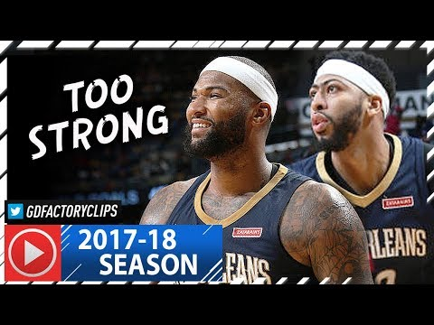 Anthony Davis & DeMarcus Cousins EPIC Highlights vs Blazers (2018.01.12) - 60 Pts 28 Reb Combined!