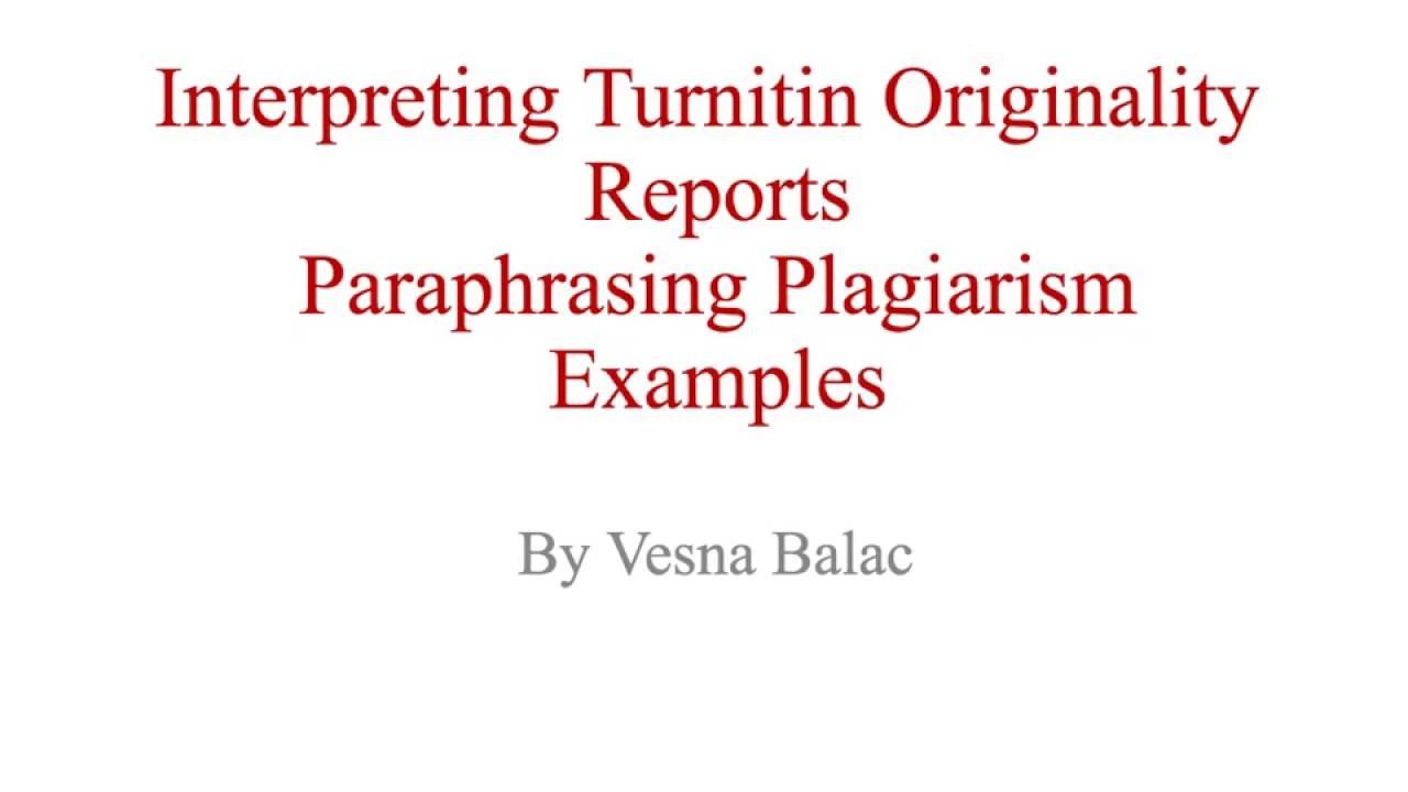 does turnitin detect paraphrasing