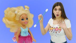Куклы Барби в новом видео для девочек Маска для лица от Челси