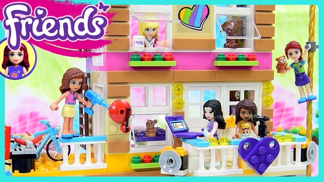 Lego Friends Friendship House Converted Fire Station Part 1 Build