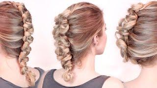 Причёски в стиле рок на средние/длинные волосы ★ Французская коса с петельками(В этом видео уроке я вам покажу шаг за шагом, как самой себе сделать красивую причёску с плетением, а именно..., 2015-02-28T10:45:52.000Z)