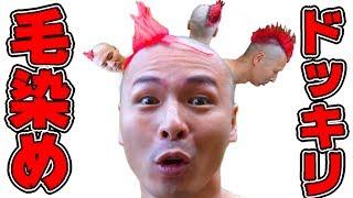 【マニパニ】寝てる間に髪を赤くするドッキリ