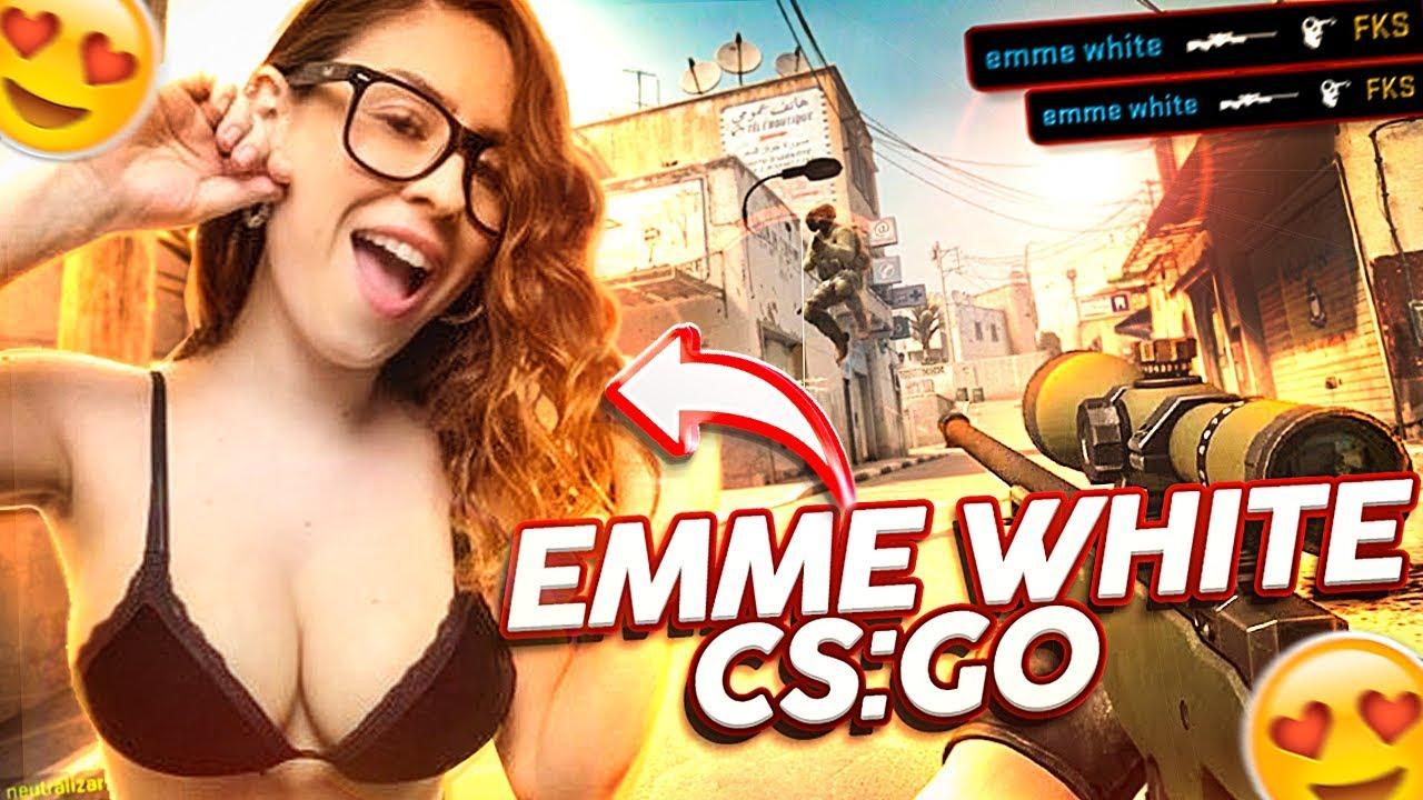 EMME WHITE JOGANDO COUNTER-STRIKE: GO