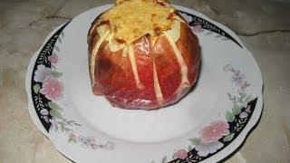 Яблоко запеченное с твердым сыром