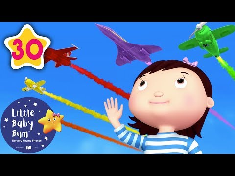 Color Planes | Vehicle Songs for Kids | +More Nursery Rhymes and Kids Songs | Little Baby Bum