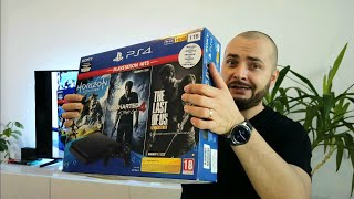 Unboxing my first Sony PS4 Slim 1TB + 5 min gameplay on 4K TV