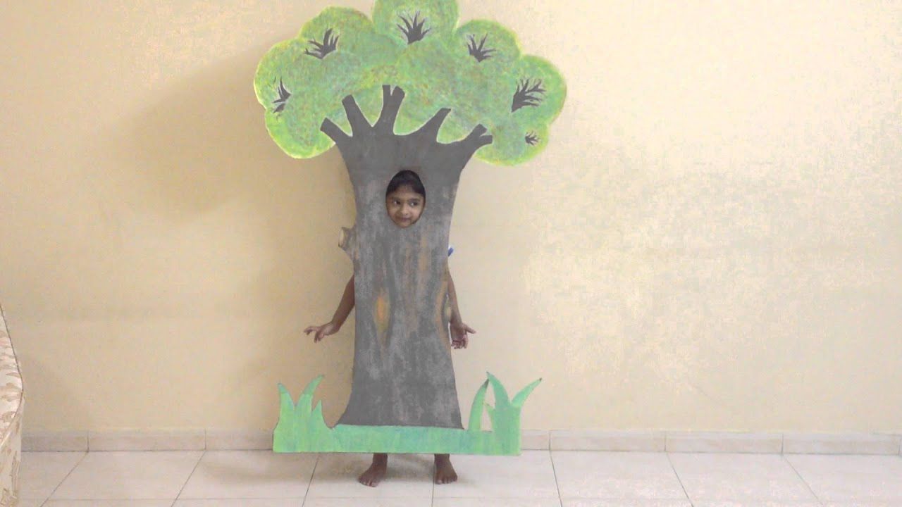 sc 1 st  YouTube & Fancy Dress Competition Costume - Theme Environment - Tree - YouTube