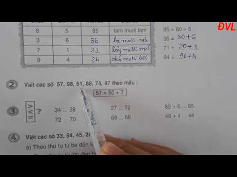 Học Online -Toán Lớp 2 -Tiết 2 -Bài Ôn tập các số đến 100 (Tiếp theo)