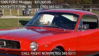 1965 FORD Mustang Fastback 2+2 for sale in KNIGHTSTOWN, IN 4