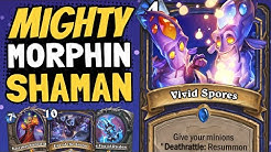 SUMMONING A 48/48 ON TURN 4?? Mighty Morphin Power Shaman is CRAZY! | Ashes of Outland | Hearthstone