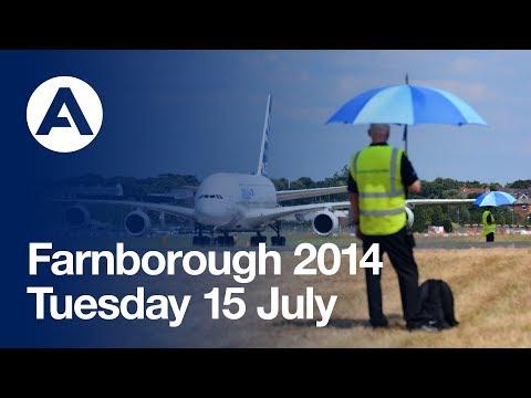Farnborough Air Show 2014 - Tuesday 15 July Flying displays (uncut version)