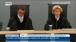 Urteilsverkündung gegen Anders Breivik vom 24.08.2012