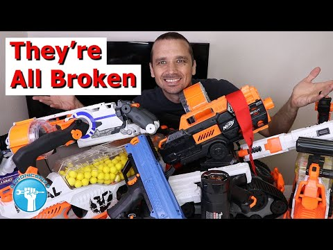 I Bought 7 Broken Nerf Guns - Can I Fix Them?!