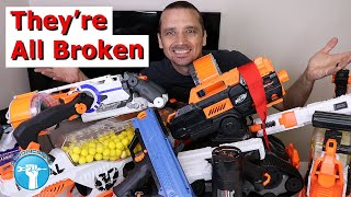 I Bought 7 Broken Nerf Guns - Can I Fix Them?!