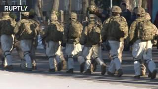 Американские солдаты шагают по Латвии  на востоке страны прошли учения НАТО