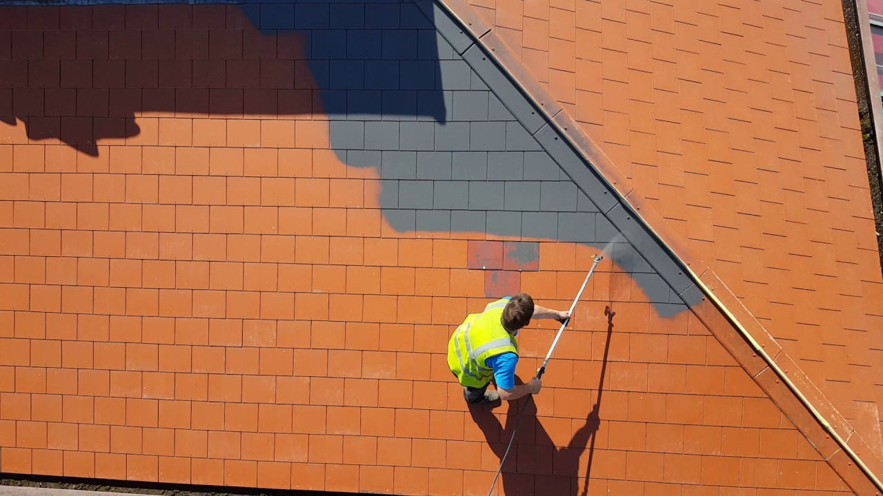 Roof Tiles Paint Spraying Youtube