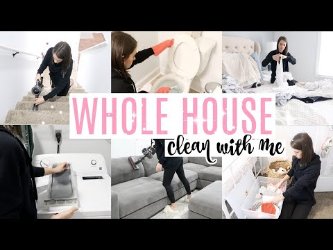 WHOLE HOUSE CLEAN WITH ME 2020 // ALL DAY CLEAN WITH ME // Ultimate CLEANING MOTIVATION