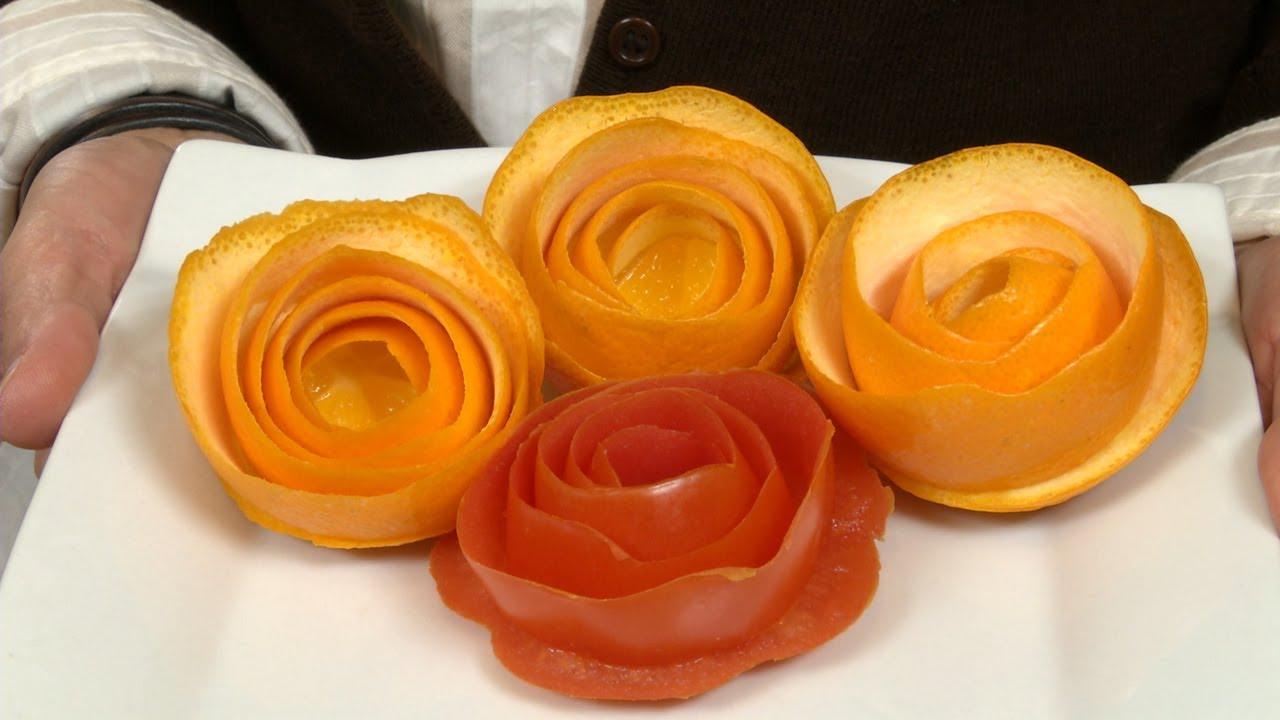 Flor de naranja o frutas para decoracion de platos de for Decoracion con verduras