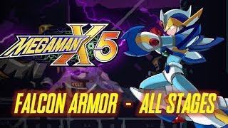 Mega Man X5 - Falcon Armor Playthrough (All Stages) No Damage - Xtreme Mode