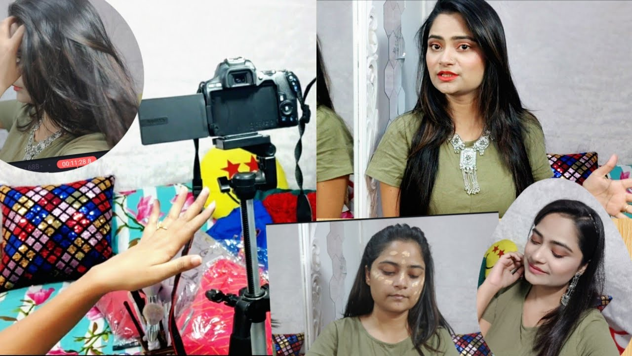 How I get ready to shoot/film my videos, chit chat kind of video,setup, Jewellery, makeup