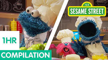 Sesame Street: Cookie Monster Foodie Truck Compilation! | 1 Hour Long