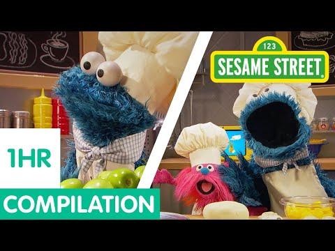 sesame-street:-cookie-monster-foodie-truck-compilation!-|-1-hour-long