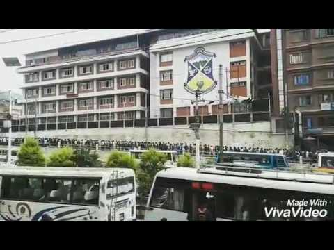 Entrance Line At Saint Xavier College Maitighar Kathmandu