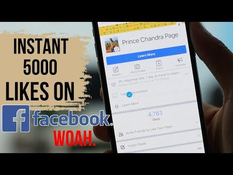 Get 5000 Real Likes on Facebook Page in a Minutes Step by Step ✔