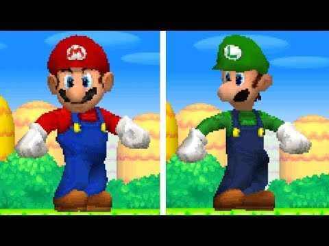 New Super Mario Bros DS - All Giant Mario & Luigi Powerups