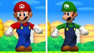 New Super Mario Bros DS - All Giant Mario & Luigi Powerups