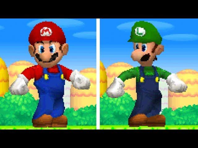 New Super Mario Bros Ds All Giant Mario Luigi Powerups