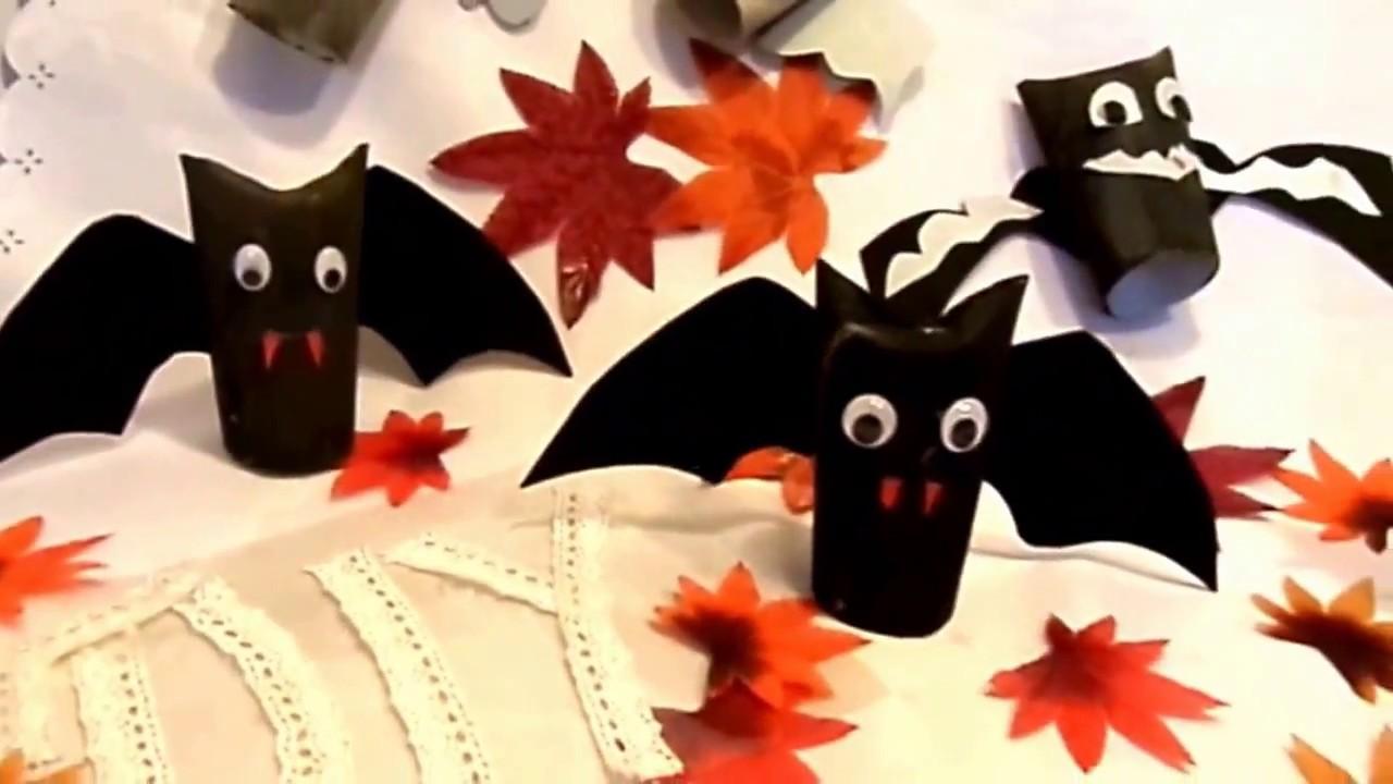 Diy Coole Halloween Monster Fledermause Aus Wc Rollen Basteln